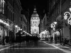 The soul(s) of Christmas (Bereczki Zoltán László) Tags: blackwhite christmas budapest hungary basilica lights nikon nikond810 zeiss zeissmilvus50mmf14 architecture mood decoration urban urbanfragments night nightscape