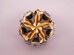 Alena var. (masha_losk) Tags: kusudama кусудама origamiwork origamiart foliage origami paper paperfolding modularorigami unitorigami модульноеоригами оригами бумага folded symmetry design handmade art