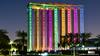 Dubai, United Arab Emirates: Dubai Frame looks to old Dubai on the north and financial Dubai on the south (nabobswims) Tags: ae dubai dubaiframe hdr highdynamicrange ilce6000 lightroom nabob nabobswims night nightfoto photoshop sel1018 sonya6000 uae unitedarabemirates zabeelpark