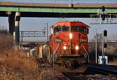 "Eastbound Manifest in Kansas City, MO (""Righteous"" Grant G.) Tags: up cn union pacific railroad railway locomotive ge emd power east eastbound manifest freight kansas city missouri"