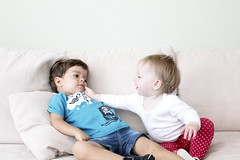 Friendly - 11/17 (Rob Hayman) Tags: sofa love children face poke cousins pale white friends couch