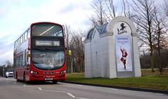 13004 - 96 Bluewater (Gellico) Tags: stagecoach london wright gemini 3 bus 13004 route 96 bluewater