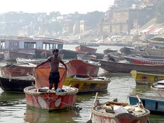 varanasi 2017 (gerben more) Tags: cityview city boats man varanasi india benares ganges ganga