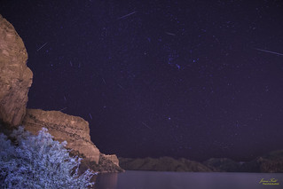 Geminid meteor shower - composite shot