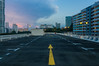 Sundown (OzGFK) Tags: asia singapore carpark rooftop hdb housing residential apartments flats nikond90 tokina tokina1116 urban sunset twilight dusk evening skyline buildings skyscraper clouds weather orangesky