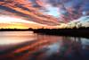 Merry Christmas! (NaturalLight) Tags: sunset water reflections chisholmcreekpark wichita kansas