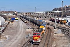 "Southbound Local in Kansas City, MO (""Righteous"" Grant G.) Tags: bnsf atsf santa fe ge power emd locomotive railroad railway south southbound local freight kansas city missouri"