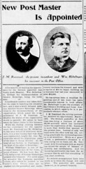 1909 - Helmlinger replaces Ranstead as postmaster - Enquirer - 15 Apr 1909