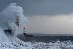Storm Eleanor (geraintparry) Tags: south wales southwales geraint parry geraintparry sigma sigma105 150600 105mm d500 nikond500 porthcawl lighthouse storm eleanor sea coast wave waves windy wind sky water