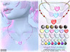 [ bubble ] Winged Heart Necklace (::: insanya ::: & [ bubble ]) Tags: secondlife bubble originalmesh accessories necklace metals beads heart mesh hud exclusive kawaiiproject
