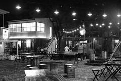 Loop Plaza, Surabaya, Indonesia (Plan R) Tags: loop plaza shipping container shop cafe restaurant evening night dark monochrome blackandwhite leica m 240 noctilux 50mm