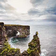 Iceland (Zeeyolq Photography) Tags: iceland sky svörtuloftlighthouse islande rocks ocean sea vesturland