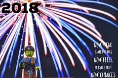 365 Days, 365 Chances. Happy New Year! (parik.v9906) Tags: legography fireworks 365projecthas project days 365 year happynewyear wishes 2018 newyear d90 nikon minifigures minifigure minifig legos lego leg