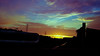 land (dangdhut_core) Tags: tangsel bsd serpong kabel tianglistrik sutet sunset phone samsung android sky dusk