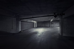 Locked In (shutterclick3x) Tags: parking deck garage blackandwhite bw moody frankloose