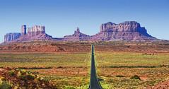 The long open road through Monument Valley, Utah (Gail K E) Tags: monumentvalley utah usa geology rockformations sandstone aoi elitegalleryaoi bestcapturesaoi