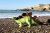 Stegosaurus on the Beach at Spooner's Cove (Acorntopia) Tags: toy dinosaur spoonerscove montanadeoro stegosaurus