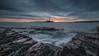 V (ianbrodie1) Tags: stmarys lighthouse rocks formation water sea seascape tyneside ocean sunrise seaweed