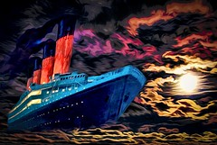 Titanic Sails the Skys (Rusty Russ) Tags: titanic sail sky cloud over process color ship iceberg colorful day digital window flickr country bright happy colour eos scenic america world sunset beach water red nature blue white tree green art light sun park landscape summer city yellow people old new photoshop google bing yahoo stumbleupon getty national geographic creative composite manipulation hue pinterest blog twitter comons wiki pixel artistic topaz filter on1 sunshine image