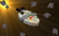 The Ghost (NS Brick Designs) Tags: nslegodesigns nsbrickdesigns lego moc myowncreation build model edit space asteroids stars theghost starwarsrebels starwars hera syndulla ezrabridger chopper spaceship cargo freighter rebelalliance phantomsquadron phoenixsquadron thephantom microscale