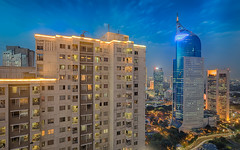 A place I call home (Maskun Ramli) Tags: home house cityscape cityscapephotography cityscapelovers aplaceicallhome landscape landscapelovers landscapephotography samsung samsungnx500 samsungnx sudirmanpark supark bni46 bnitower apartment officetower bluehour
