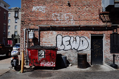 Lewd (Sean Davis) Tags: lewd neworleans achoo graffiti trash louisiana unitedstates us