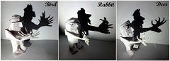 ORIGAMI: HAND SHADOW PUPPETS! (Neelesh K) Tags: origami hand shadow art puppet bird rabbit deer neelesh k paperfolding boxpleat