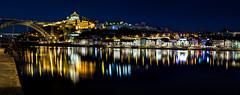 Porto - panoramic (Fernando.P.Photo) Tags: porto night longexposure bluehour bridge reflect dock monastery monastere pont domluis mosteiro vilanovadegaia greatphotographers