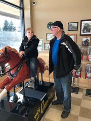 """Paul Rides a Horse at 2Toots Train Whistle Grill • <a style=""""font-size:0.8em;"""" href=""""http://www.flickr.com/photos/109120354@N07/27612981099/"""" target=""""_blank"""">View on Flickr</a>"""