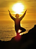 Sun Lover (moonjazz) Tags: sun woman yoga joy arms ocean california life people silhouette photography pose pacificocean yellow gold light hold celebrate balance energy sunset amazing stillness meditation zen embrace