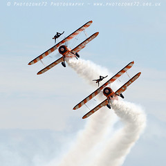 3423 Wingwalkers (photozone72) Tags: eastbourne airshows aircraft airshow aviation breitlingwingwalkers breitling wingwalkers boeing stearman biplane canon canon7dmk2 canon100400f4556lii 7dmk2