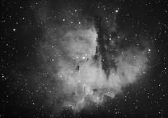 Work in Progress NGC281 - The Pac-Man (CKemu) Tags: space astronomy stars astrophotography dso ngc281 blackandwhite longexposure nebula pacman telescope universe cosmos sky night science astrometrydotnet:id=nova2356191 astrometrydotnet:status=solved