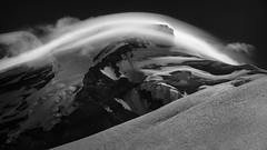Mount Baker Lenticular (TroyMasonPhotography) Tags: blackandwhite climbing lenticular mountbaker mountaineering mountaineers mountain pacificnorthwest washington north cascades outdoors nature landscape fine art storm clouds ice snow glacier weather rugged seattle tacoma northcascades nationalpark
