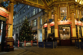 Festive decorations in Leadenhall Market