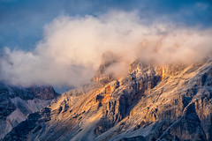 Head in the Clouds and magic Light... (Ody on the mount) Tags: abendlicht anlässe berge dolomiten drama em5ii fototour italien licht mzuiko40150 omd olympus südtirol urlaub wolken clouds light mountains cherz veneto it