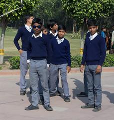 School boys in Dehli. Street Life and people (HSandsleth) Tags: rajghat india school street people variosonnar