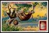 Liebig Tradecard S1095 - Sloths (cigcardpix) Tags: tradecards advertising ephemera vintage chromo liebig nature