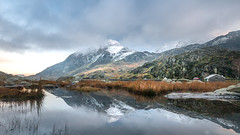 In the cold .... (Einir Wyn Leigh) Tags: landscape valley winter snow mountains nature light reflection wales sky blue boathouse colorful