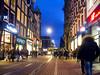 An winter evening in Amsterdam. 003 (George Ino) Tags: copyright georgeino georgeinohotmailcom thenetherlandshollandnederland utrecht evening earlyevening nightphotography avondfotografie amsterdam longexposure slowshutterspeed tram rail people voetgangers pedestrians panasoniclumix14mm25 em5 mft