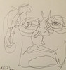 2017.10.08 Left-Handed & Blind (Julia L. Kay) Tags: juliakay julialkay julia kay artist artista artiste künstler art kunst peinture dessin arte woman female sanfrancisco san francisco sketch dibujo selfportrait autoretrato daily everyday 365 self portrait portraiture face dpp dailyportraitproject pen paper ink