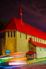 red roof (Mustafa Kasapoglu) Tags: red contrast night blue nightphoto nightphotography nightshot nights montreal canada