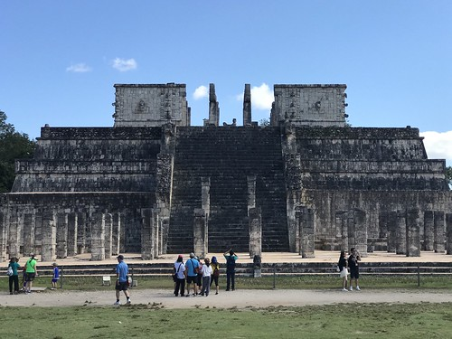 Templo de los Guerreros en Chichén Itzá, Yucatán, Mexico