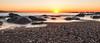 Morgens in Barcelona (raschmichael) Tags: barcelona spain sunrise sonnenaufgang beach strand steine stones