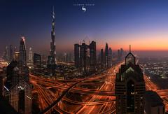 Dubai Dusk (hisalman) Tags: dubai uae burjkhalifa downtown hisalman salmanahmed buildings towers highrise skyline cityscape travel canon
