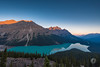 Solitude is a catalyst to innovation, and innovation is bred through creativity. A bit of headspace can go a long way, so don't be afraid to seek some positive solitude in 2018! It's not often one gets solitude at this lake, Peyto Lake, in Banff National (edr_photography) Tags: mountain lake peytolake banff banffnationalpark canada canada150 sunrise