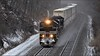 20Q: Winter on the Pittsburgh Line (Images by A.J.) Tags: train railroad railway rail transportation pennsylvania pittsburgh line greensburg intermodal freight stack container cofc winter snow heritage new york central emd sd70ace norfolk southern