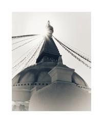 Buddhist stupa of Boudhanath (posterboy2007) Tags: buddhist stupa boudhanath kathmandu nepal sun prayerflags sony architecture
