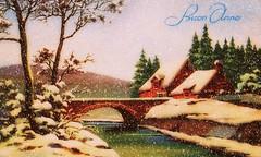 * Una vecchia cartolina * An old postcard * (argia world 1) Tags: cartolina postcard auguri wishes paesaggioinnevato snowlandscape ricordi memories