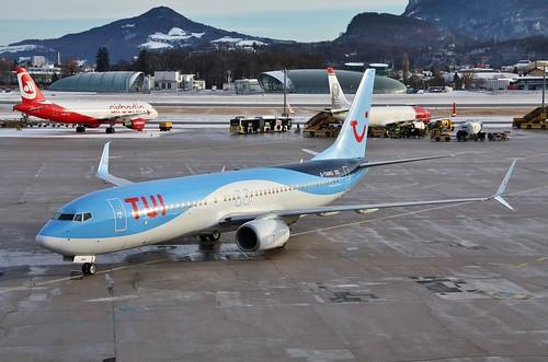 G-TAWU Boeing 737-800 @ Salzburg 30th December 2018