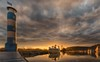 The last sunset in 2017 (ramerk_de) Tags: hdr sunset niederbayern lowerbavaria bavaria danube donau boats